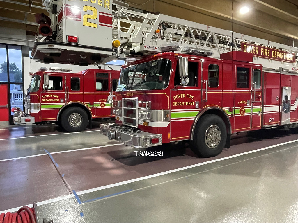 Station 46 Dover Fire Department Engine 4 & Ladder 2 Military Support (Kent) 9-1-21