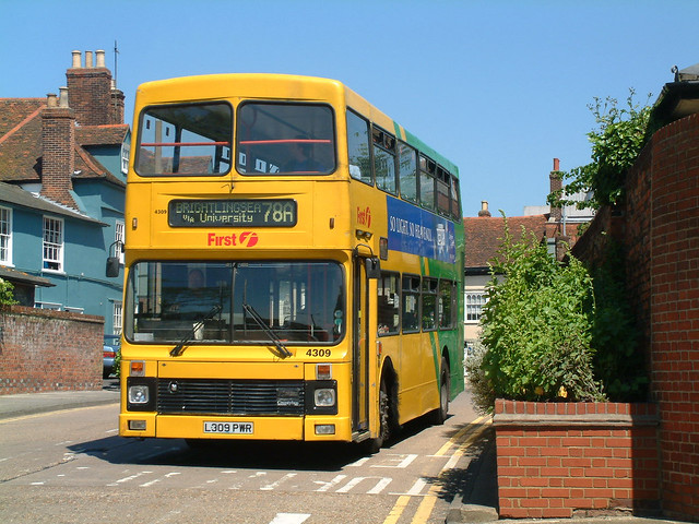 Eastern National L309PWR Colchester in 2002