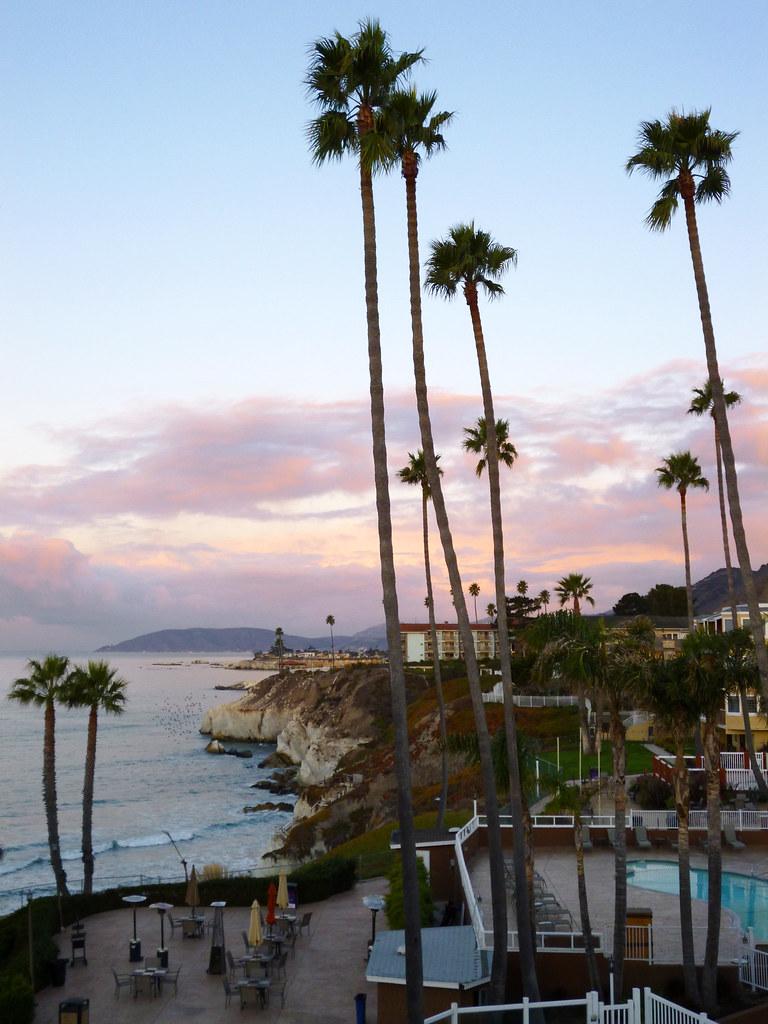 2012 Pismo Beach hotel at sunset