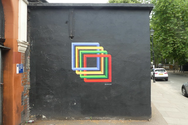 Schneider graffiti, Islington