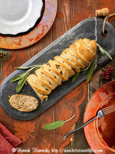 Shiitake Pate en Croute - Sliced
