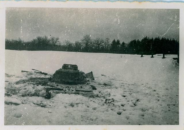 El Pz III naufragat / Sunk Pz-III