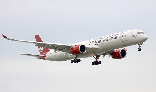 Virgin Atlantic A350-1000 G-VJAM landing HKG/VHHH