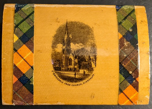 Mauchline Ware Box, Kirkcaldy Subject