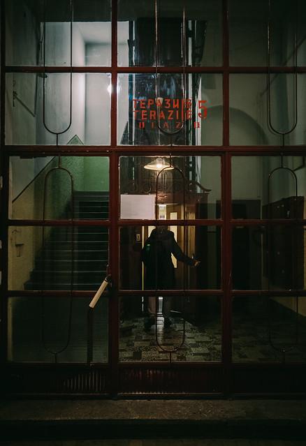 entering the lighting box