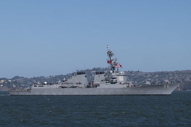 USS Shoup in San Francisco Bay