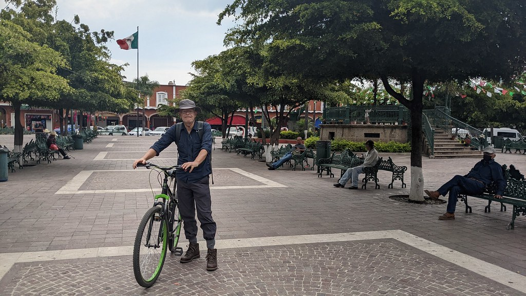 Jocotepec Plaza - Cycling to Jocotepec and Chapala from Ajijic, Jalisco, Mexico