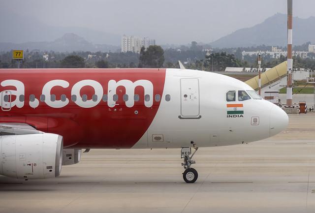 Air Asia India Airbus A320 VT-RED Bangalore (BLR/VOBL)