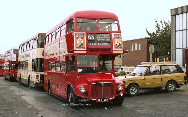 London Transport RM254 VLT 254 - South Yorkshire PTE Greenland Rd Garage Open Day, 10th September 1983