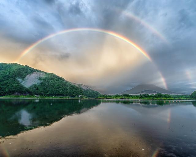 Lake Shoji double rainbow