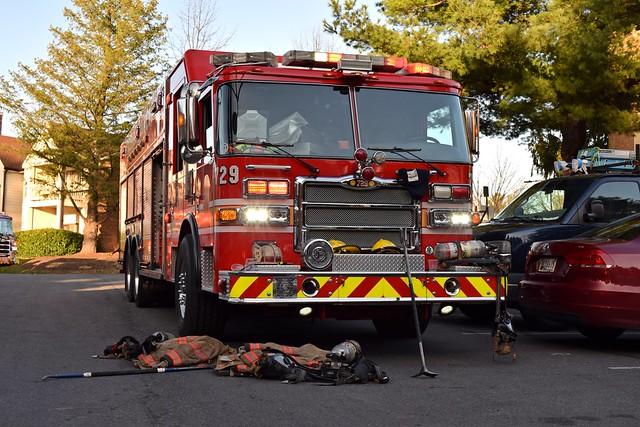 Fire truck on Walker House Road