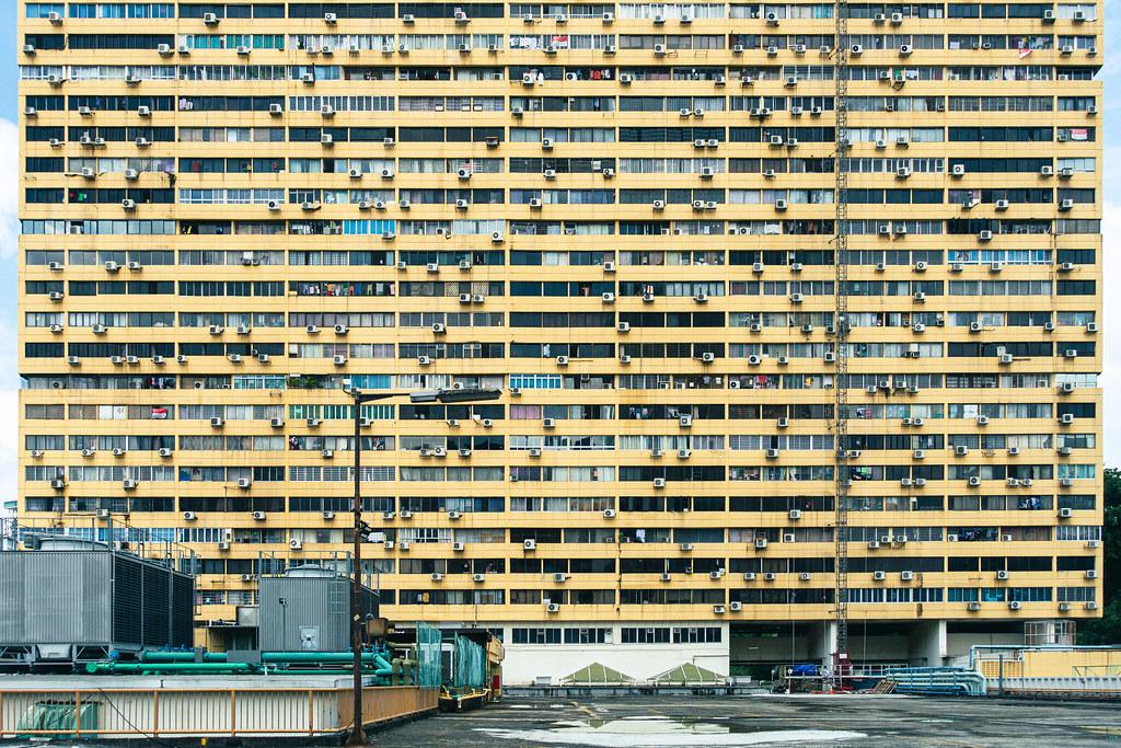 a Complex building