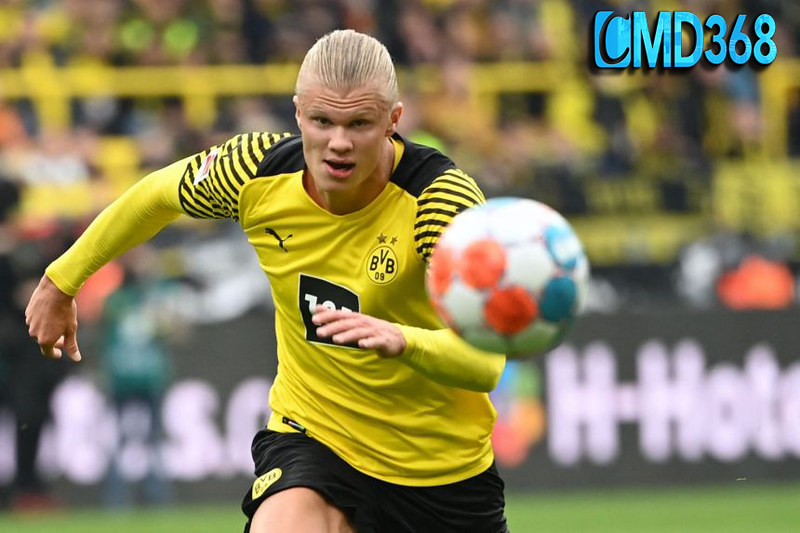 Dortmund's Haaland out for a few weeks with hip injury