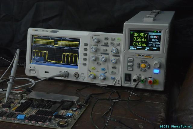Owon Oscilloscope and power supply.