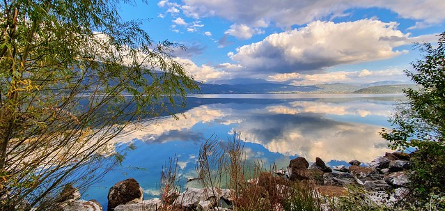 Clouds in the water -