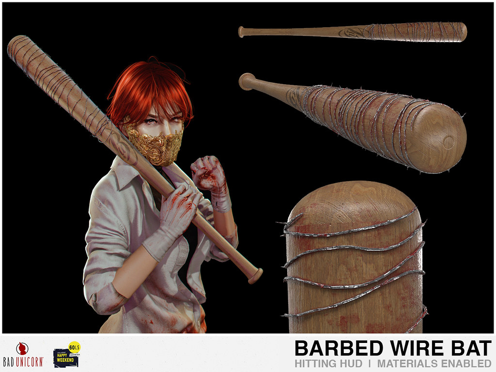 NEW! Barbed Wire Bat @ Bad Unicorn Mainstore (ONLY 60L)