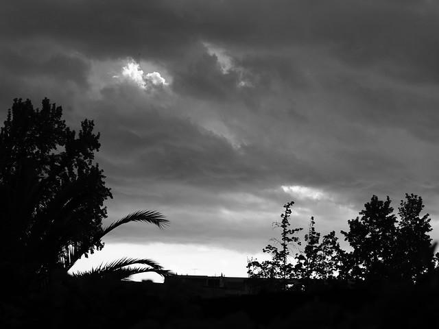 Por la tarde, la tormenta está aquí...