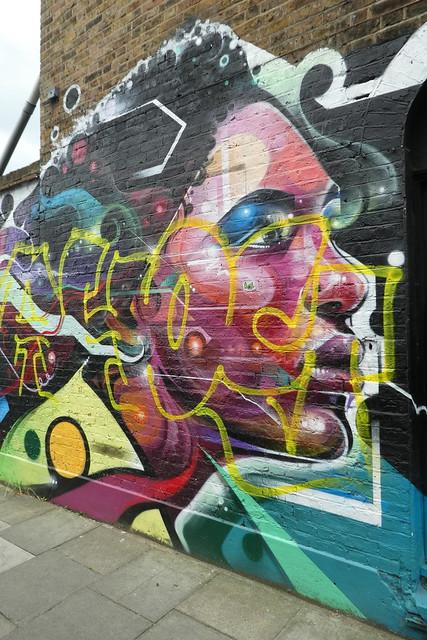 Mr Cenz graffiti, Highbury & Islington