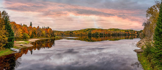 Arrowhead Lake Sunset Pano