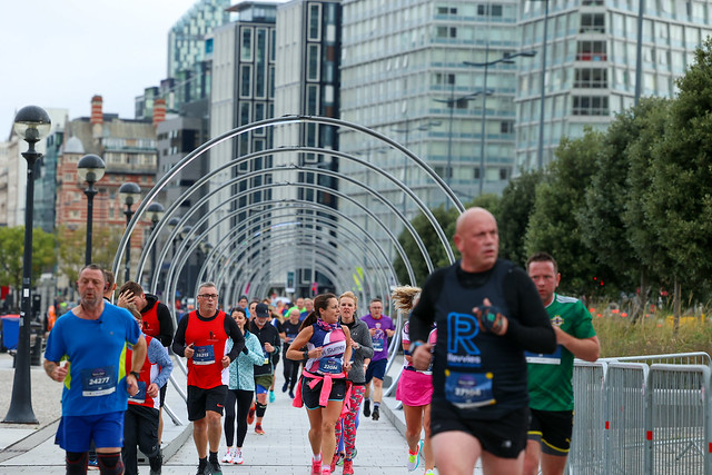 Runners take part in the Liverpool Rock 'n' Roll 5K Race