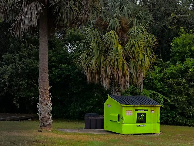 Little green dumpster