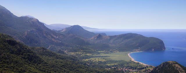 View from the old mountain road to Petrovac
