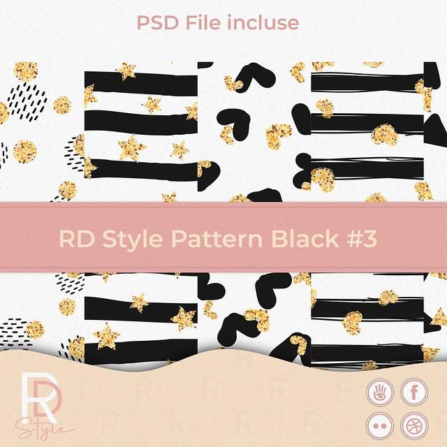 RD Style Pattern Black #3