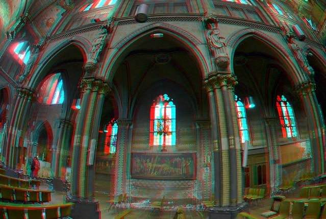 St.Lambertuskerk Rotterdam 3D Fish-eye