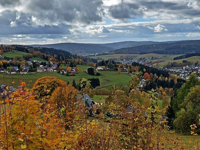 Blick auf Klingenthal im Vogtland