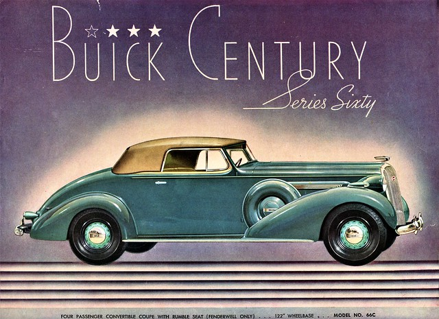 1936 Buick Century Convertible Coupe