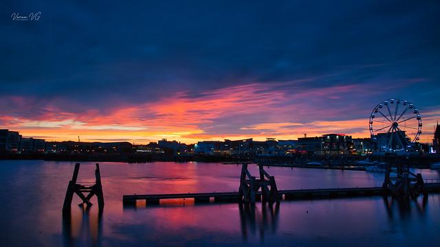 Sunset at Cardiff Bay