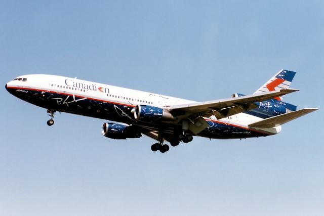 Canadian Airlines | McDonnell Douglas DC-10-30 | C-FCRE | Spirit of Canadian livery | London Heathrow