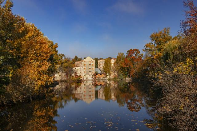 Autumn scenery in Břeclav