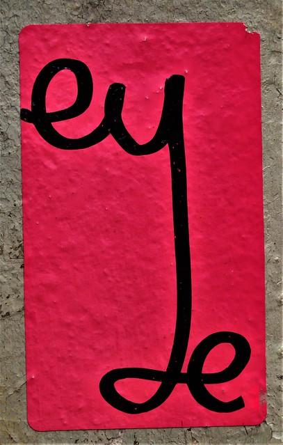 Sticker. Lower Manhattan. EYE