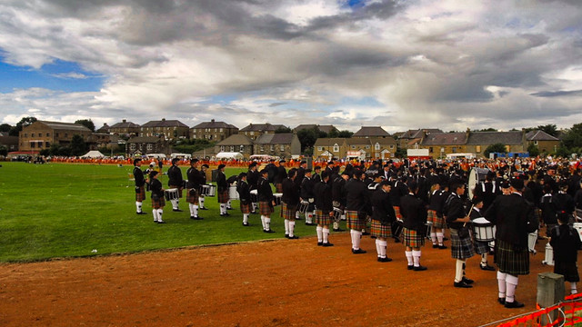 Pipe Band Waits on Games Field