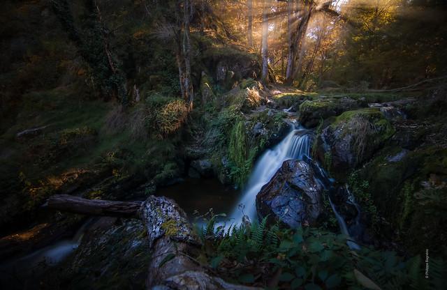 Cascade de la Mouline, Limousin (France)