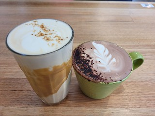 Biscoff Latte and Hot Chocolate at The Green Edge