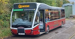 Go North East Optare Versa Northern NK11 FXB seen on display at Beamish Museum