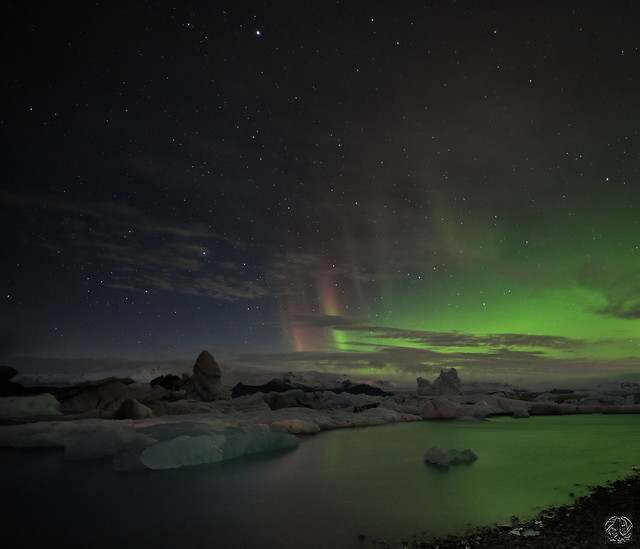 Iceland - Aurore sur Jökulsárlón