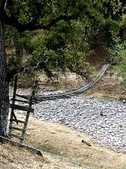 Bridge over dry river bed