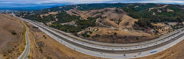 canyon road panorama