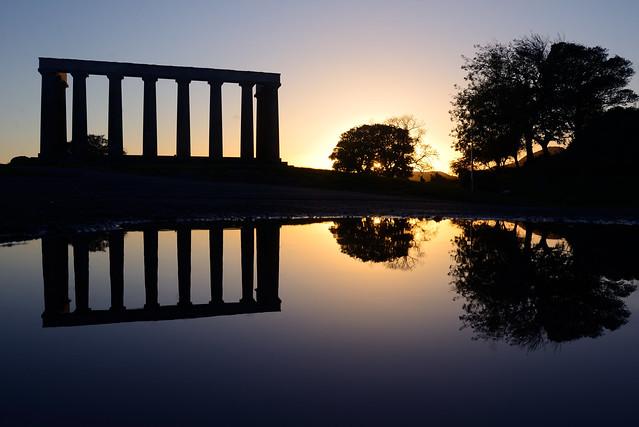 Calton Hill reflections, Edinburgh