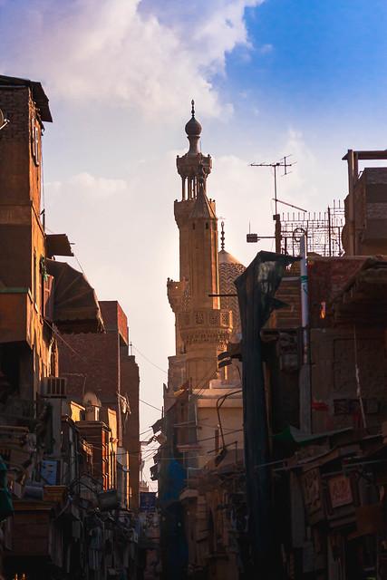 Aspects of Cairo - Al-Muizz (Al-Moez) street - north of Al-Azhar street