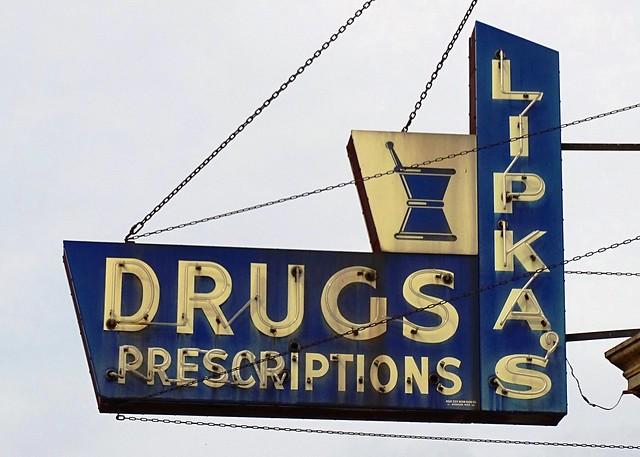 MI, Montague-U.S. 31(Old) Lipka's Drugs Neon Sign