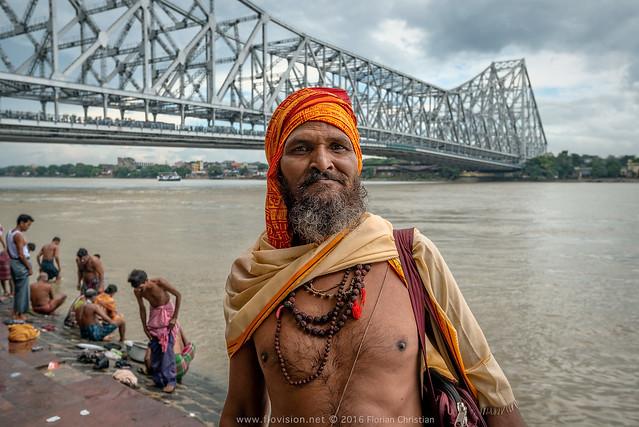 Bathing ghat, Kolkata, India