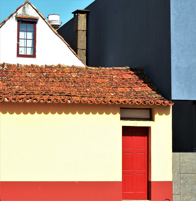 houses with colored geometry