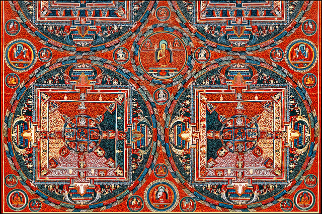 Thangka with Four Mandalas of the Vajravali Cycle
