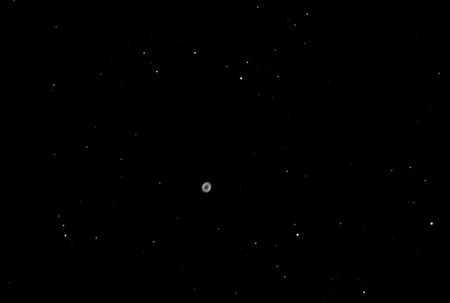 M57 Ring nebula  The first time using a light pollution filter .