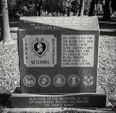 Purple Heart memorial at California State Capitol park