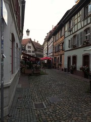 Rue piu00e9tonne dans le quartier Petite France - Strasbourg